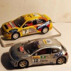 Scalextric: SEAT CORDOBA WRC Y PEUGEOT 206 WRC DE SCALEXTRIC. Lote 269184183