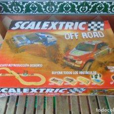 Scalextric: CIRCUITO OFF ROAD DE SCALEXTRIC TECNITOYS MITSUBISHI MONTERO VOLKSWAGEN TOUARE. Lote 275465023