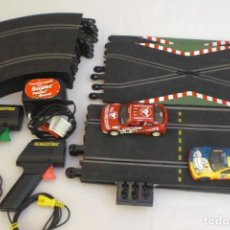 Scalextric: CIRCUITO SCALEXTRIC COMPLETO MAS DOS COCHES - RENAULT MAXI MEGANE Y PEUGEOT 206 WRC. Lote 276786593