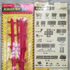 Scalextric: SCALEXTRIC - 2 BLISTERS DE 10 VALLAS PROTECTORAS - TECNI TOYS RF. 8783 - PJRB. Lote 295509363