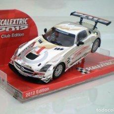Scalextric: COCHE CLUB SCALEXTRIC 2012, MERCEDES SLS AMG, A ESTRENAR.. Lote 280337083