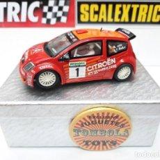 Scalextric: SCALEXTRIC CITROEN C2 JWRC #1 M.FUSTER- J.V.MEDINA. Lote 284179283