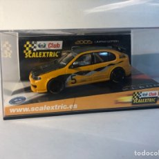 Scalextric: SEAT LEON NARANJA I NEGRO 2005 LIMITED EDITION SCALEXTRIC CLUB TECNITOYS SCX REF.6169.. Lote 293805008