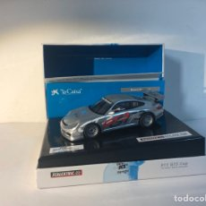 Scalextric: 911 GT3 CUP LA CAIXA PLATEADO 2009 EDICION LIMITADA REF.6444 SCALEXTRIC TECNITOYS SCX. Lote 293807933