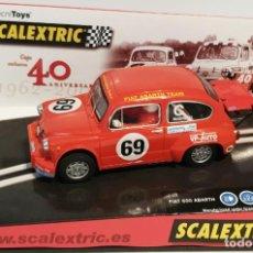 Scalextric: SCALEXTRIC TECNITOYS FIAT 600 ABARTH 40 ANIVERSARIO NUEVO EN CAJA. Lote 293877683