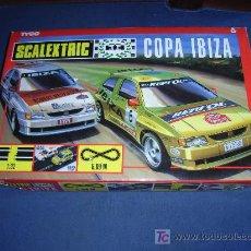 Scalextric: CAJA COMPLETA COPA IBIZA SCALEXTRIC TYCO, CON DOS COCHES IBIZA MERCADER E IBIZA KIT-CAR - VER FOTOS. Lote 27215840