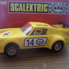 Scalextric: RAREZA. PORSCHE 911 TURBO AMARILLO SCALEXTRIC. IMPECABLE ESTADO Y FUNCIONAMIENTO. IMPORTACION.. Lote 26449670