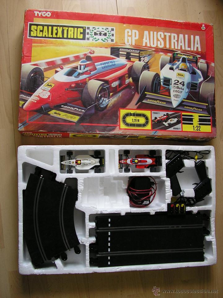 CIRCUITO GP AUSTRALIA CON FERRARI F/87 FIAT #28 (¡NUEVO!) Y MINARDI VALLEVERDE #24. SCALEXTRIC TYCO. (Juguetes - Slot Cars - Scalextric Tyco)