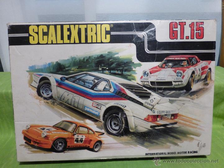 SCALEXTRIC GT.15 , TODO COMPLETO EXCEPTO LOS COCHES (Juguetes - Slot Cars - Scalextric Tyco)