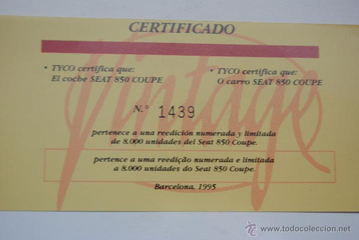 Scalextric: COCHE SCALEXTRIC SEAT 850 COUPE EDICION VINTAGE - Foto 4 - 48365169
