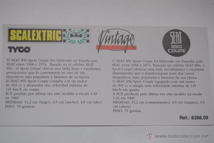 Scalextric: COCHE SCALEXTRIC SEAT 850 COUPE EDICION VINTAGE - Foto 5 - 48365169