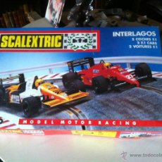 Scalextric: SCALEXTRIC TYCO INTER LAGOS 2 COCHES FORMULA 1 COMPLETO . Lote 51398811