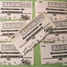 Scalextric: SCALEXTRIC EXIN ORIGINAL: LOTE INSTRCCIONES DE MANTENIMEINTO. MUY BUEN ESTADO. Lote 93817230