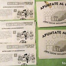 Scalextric: SCALEXTRIC EXIN ORIGINAL: LOTE INSTRCCIONES DE MANTENIMEINTO SRS2. APUNTATE AL CLUB. MUY BUEN ESTADO. Lote 93817335