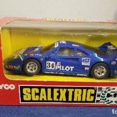 Scalextric: SCALEXTRIC FERRARI F40 #34 PILOT TYCO | MATCHBOX | EXIN | SCX | SLOT |. Lote 111593107