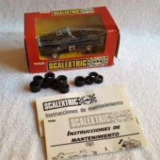 Scalextric: COCHE CARRERAS SCALEXTRIC PORSCHE 911 SHELL CON MANUALES Y NEUMATICOS VARIOS RECAMBIOS. Lote 125297012