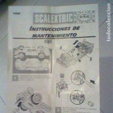 Scalextric: HOJA INSTRUCCIONES 1993 TYCO TOYS SCALEXTRIC SCX . Lote 127849015