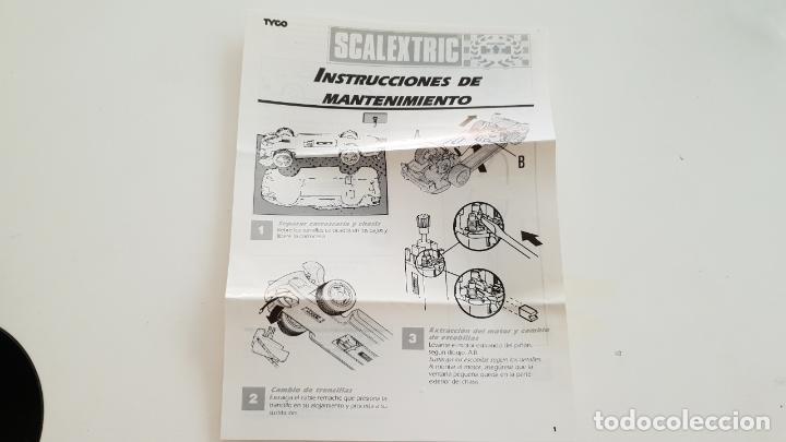 INSTRUCCIONES DE MANTENIMIENTO TYCO PORSCHE 959 (Juguetes - Slot Cars - Scalextric Tyco)