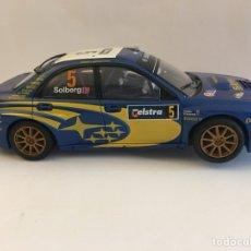 Scalextric: COCHE SCALEXTRIC NO EXIN ALTAYA SUBARU IMPREZA WRC EN AZUL. Lote 132844270