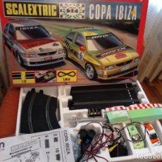 Scalextric: SCALEXTRIC COPA IBIZA CAJA CON COCHES + CIRCUITO+ INSTRUCCIONES. Lote 136280286