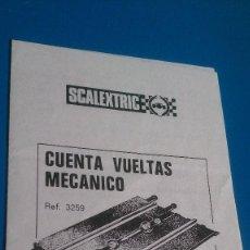 Scalextric: INSTRUCCIONES CUENTAVUELTAS MECANICO SCALEXTRIC. Lote 137751898