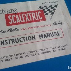 Scalextric: MANUAL INSTRUCCIONES SCALEXTRIC TRI-ANG. Lote 137752486