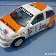 Scalextric: SEAT IBIZA KIT CAR SCX SCALEXTRIC NARANJA BLANCO . Lote 138027022