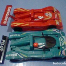 Scalextric: LOTES COCHES FERRARI SP VERDE Y ROJO SCALEXTRIC LEER . Lote 138029782
