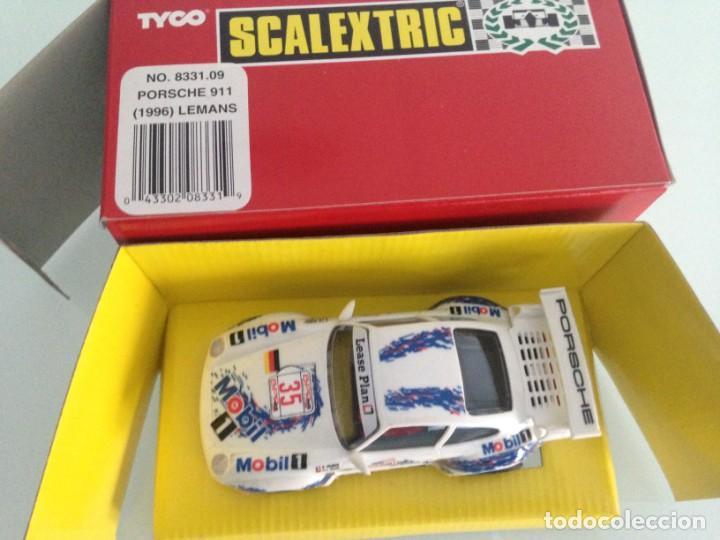Scalextric: SLOT, SCALEXTRIC 8331.09, PORSCHE 911 GT2 Nº35, LE MANS 1996, MOBIL 1, SCX - Foto 2 - 145491130