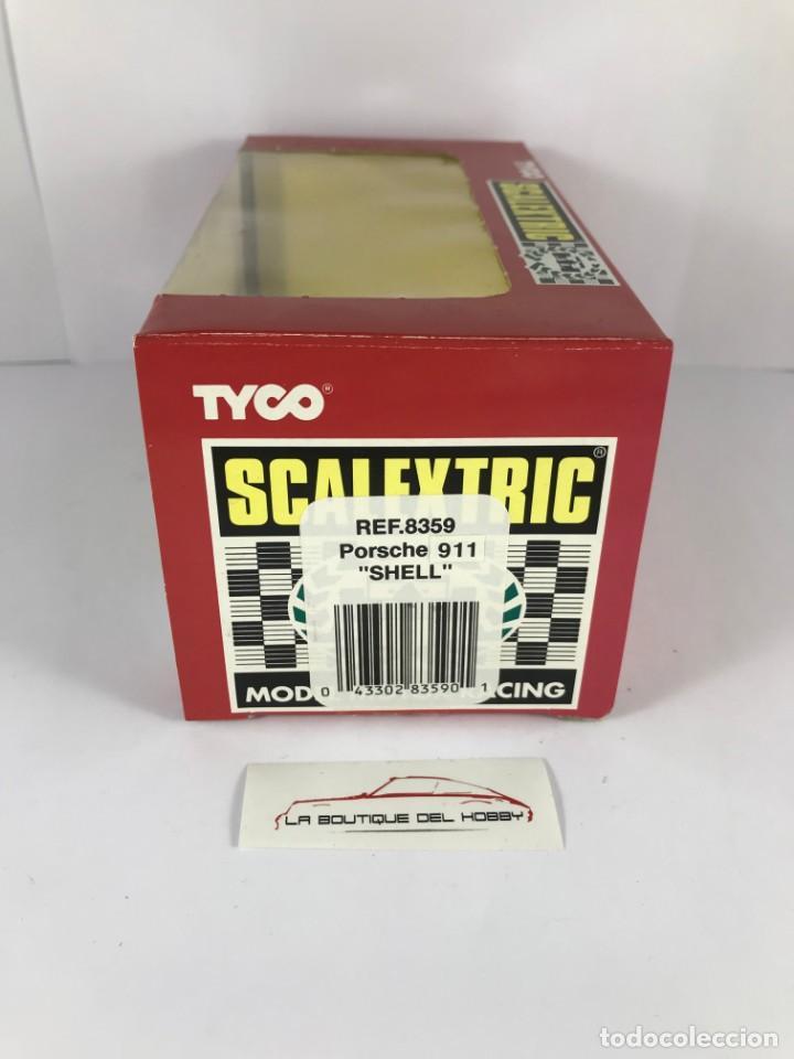Scalextric: CAJA VACIA PORSCHE 911 SHELL SCALEXTRIC TYCO 8359 - Foto 2 - 171017129