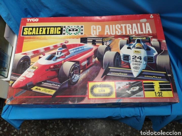 Scalextric: Scalextric de tyco, gp Australia, completo, 3,20 m, Ferrari f1 - Minardi f1 - Foto 2 - 171354350