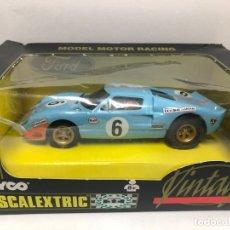 Scalextric: COCHE SLOT FORD GT40 SERIE VINTAGE FABRICADO POR SCALEXTRIC TYCO NUEVO CON SU CAJA. Lote 179257858