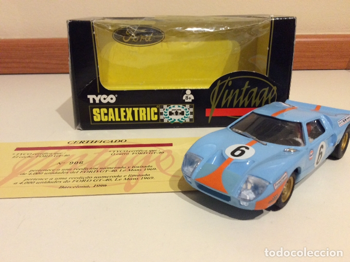 FORD GT 40 SCALEXTRIC TYCO (Juguetes - Slot Cars - Scalextric Tyco)