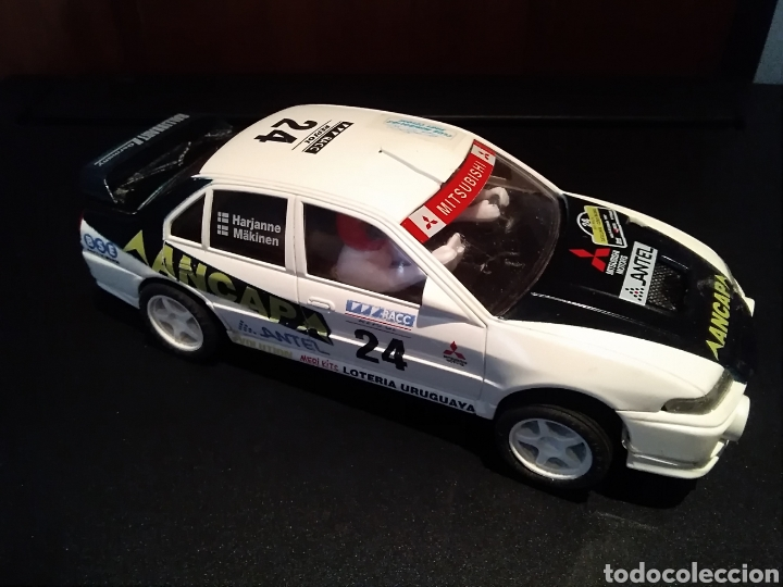 MITSUBISHI LANCER EVO IV SCALEXTRIC AÑOS 90 MADE IN SPAIN COMPATIBLE NINCO CARRERA SLOT NUEVO SCX (Juguetes - Slot Cars - Scalextric Tyco)