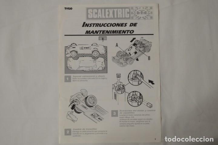INSTRUCCIONES DE MANTENIMIENTO. SCALEXTRIC TYCO. 1993. ROMANJUGUETESYMAS. (Juguetes - Slot Cars - Scalextric Tyco)
