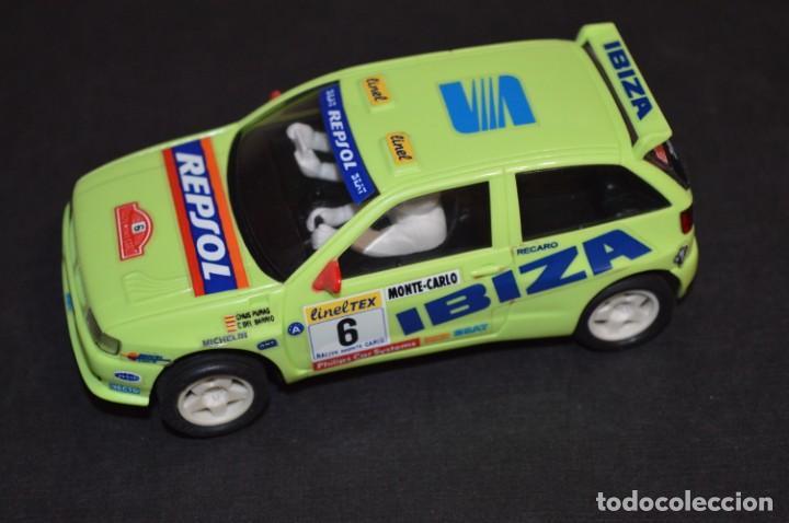 Scalextric: Seat Ibiza Repsol - Chus Puras / Del Barrio - Montecarlo 1996 / TYCO Ref. 83750 ¡Buen estado, MIRA! - Foto 2 - 224512608
