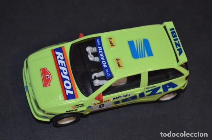 Scalextric: Seat Ibiza Repsol - Chus Puras / Del Barrio - Montecarlo 1996 / TYCO Ref. 83750 ¡Buen estado, MIRA! - Foto 3 - 224512608