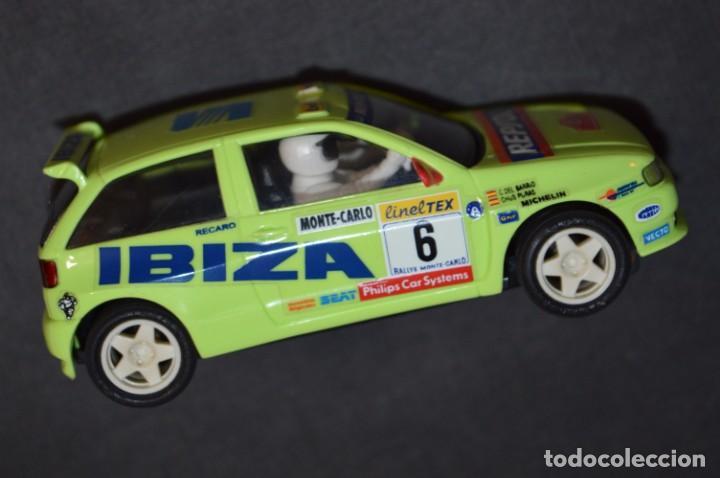 Scalextric: Seat Ibiza Repsol - Chus Puras / Del Barrio - Montecarlo 1996 / TYCO Ref. 83750 ¡Buen estado, MIRA! - Foto 4 - 224512608