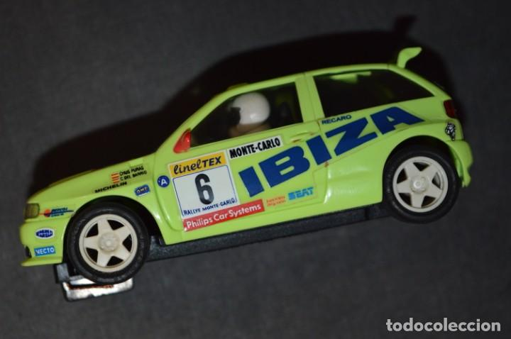 Scalextric: Seat Ibiza Repsol - Chus Puras / Del Barrio - Montecarlo 1996 / TYCO Ref. 83750 ¡Buen estado, MIRA! - Foto 5 - 224512608