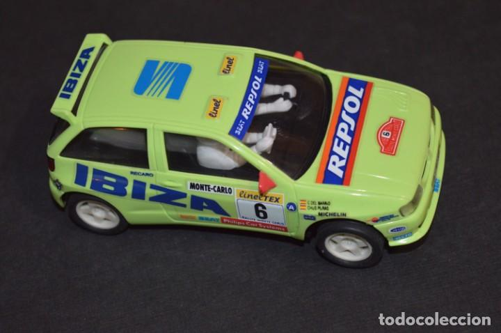 SEAT IBIZA REPSOL - CHUS PURAS / DEL BARRIO - MONTECARLO 1996 / TYCO REF. 83750 ¡BUEN ESTADO, MIRA! (Juguetes - Slot Cars - Scalextric Tyco)