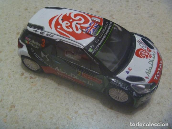 SCALEXTRIC : COCHE CITROEN DS3 WRG - ABU DHABI . MADE IN CHINA (Juguetes - Slot Cars - Scalextric Tyco)