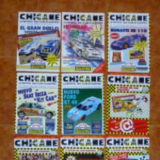 Scalextric: LOTE 9 REVISTAS CHICANE - CLUB SCALEXTRIC - TYCO 1995 A 1997. Lote 232321865