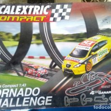 Scalextric: SCALEXTRIC COMPACT TORNADO CHALLENGE COMPLETO CON DOS COCHES. Lote 243217705