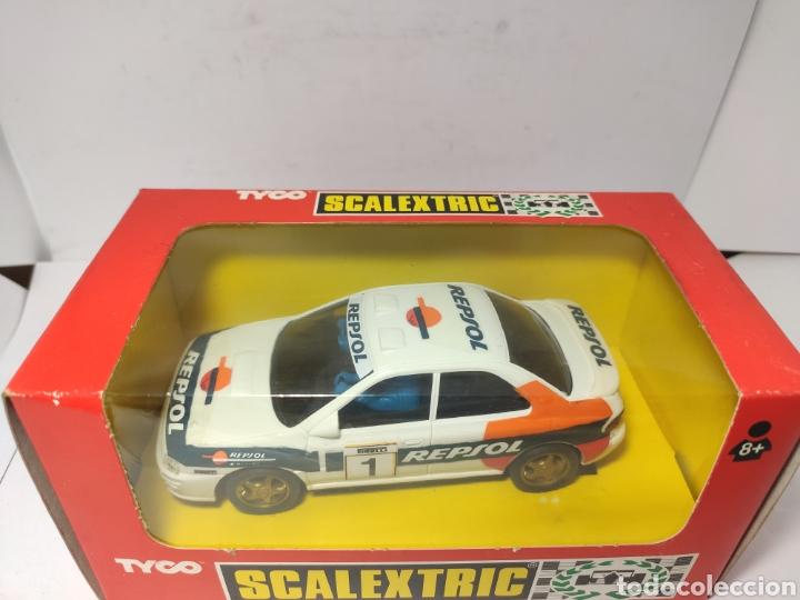 Scalextric: SCALEXTRIC SUBARU IMPREZA REPSOL CON LUZ 4X4 TYCO REF. 8376 - Foto 2 - 245157945