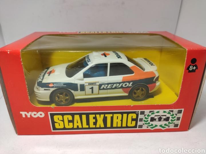 SCALEXTRIC SUBARU IMPREZA REPSOL CON LUZ 4X4 TYCO REF. 8376 (Juguetes - Slot Cars - Scalextric Tyco)