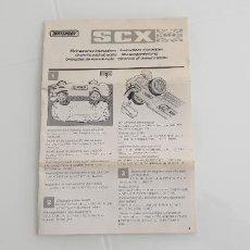 Scalextric: PORSCHE 959 NSTRUCCIONES DE MANTENIMIENTO FOLLETO DE TYCO EN VARIOS IDIOMAS. Lote 247531970