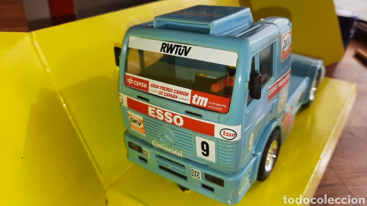 SCALEXTRIC TYCO CAMION MERCEDES ESSO. (Juguetes - Slot Cars - Scalextric Tyco)