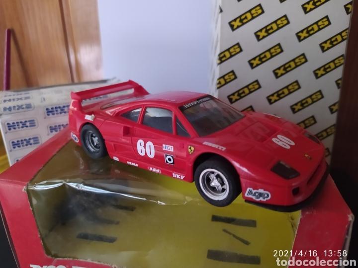 FERRARI F40 ROJO REF.8345 SCALEXTRIC TYCO CON CAJA ORIGINAL Y DOS CAJAS VACIAS VALLAS PERALTES SCX (Juguetes - Slot Cars - Scalextric Tyco)