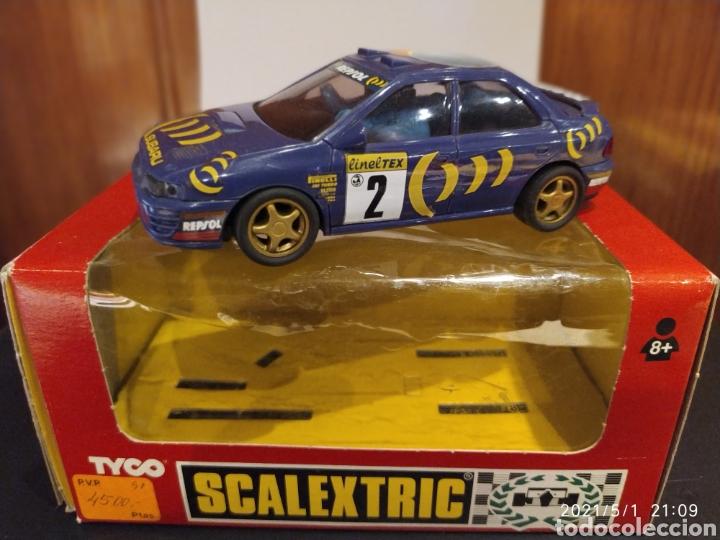 SUBARU IMPREZA CON LUZ 4X4 REF. 8377.09 TYCO SCALEXTRIC MADE IN SPAIN CON CAJA (Juguetes - Slot Cars - Scalextric Tyco)
