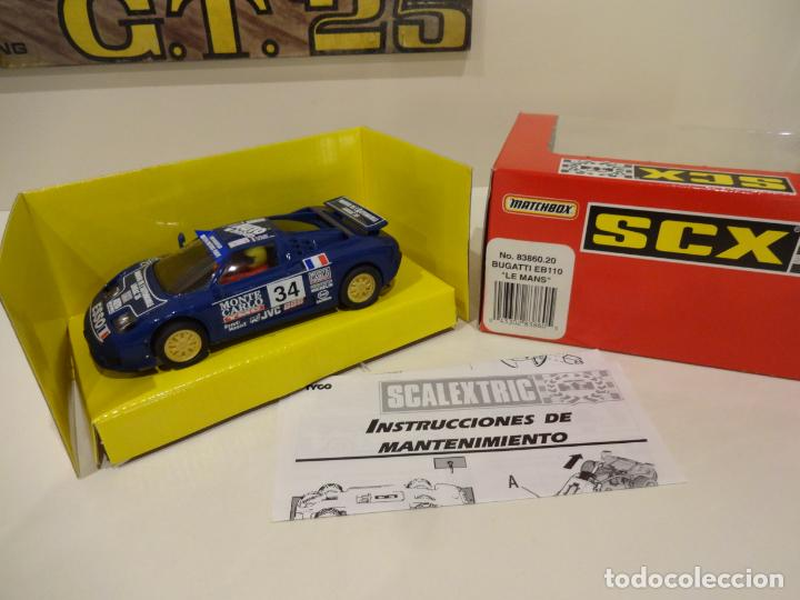 SCALEXTRIC. BUGATTI EB110. LE MANS. REF. 83860 (Juguetes - Slot Cars - Scalextric Tyco)